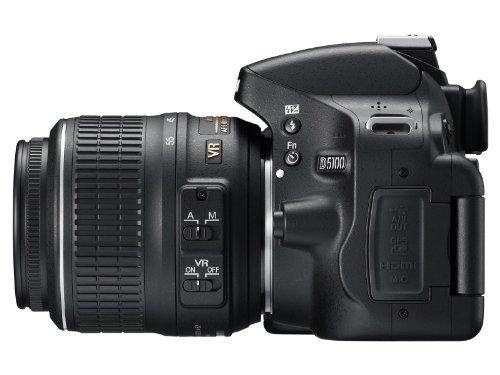 Nikon D5100 SLR-Digitalkamera (16 Megapixel, 7.5 cm (3 Zoll) schwenk- und drehbarer Monitor, Live-View, Full-HD-Videofunktion) Kit inkl. AF-S DX 18-55 mm VR (bildstb.) - 4