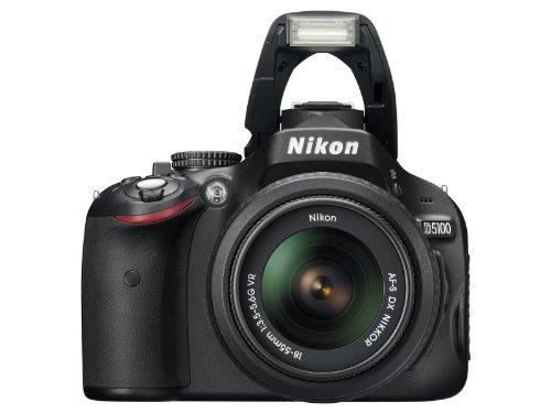 Nikon D5100 SLR-Digitalkamera (16 Megapixel, 7.5 cm (3 Zoll) schwenk- und drehbarer Monitor, Live-View, Full-HD-Videofunktion) Kit inkl. AF-S DX 18-55 mm VR (bildstb.) - 7