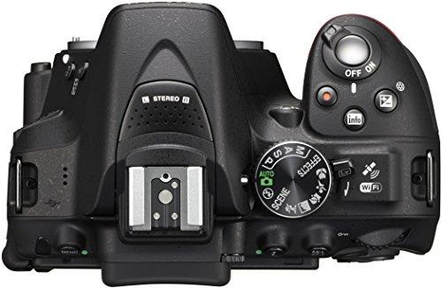 Nikon D5300 SLR-Digitalkamera (24,2 Megapixel, 8,1 cm (3,2 Zoll) LCD-Display, Full HD, HDMI, WiFi, GPS, AF-System mit 39 Messfeldern) Kit inkl. AF-S DX 18-105 VR Objektiv schwarz - 4