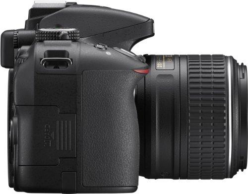 Nikon D5300 SLR-Digitalkamera (24,2 Megapixel, 8,1 cm (3,2 Zoll) LCD-Display, Full HD, HDMI, WiFi, GPS, AF-System mit 39 Messfeldern) Kit inkl. AF-S DX 18-55 VR II Objektiv schwarz - 3