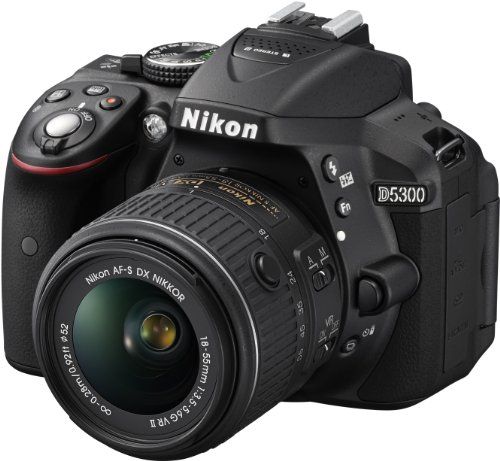 Nikon D5300 SLR-Digitalkamera (24,2 Megapixel, 8,1 cm (3,2 Zoll) LCD-Display, Full HD, HDMI, WiFi, GPS, AF-System mit 39 Messfeldern) Kit inkl. AF-S DX 18-55 VR II Objektiv schwarz - 7