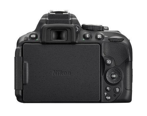 Nikon D5300 SLR-Digitalkamera (24,2 Megapixel, 8,1 cm (3,2 Zoll) LCD-Display, Full HD, HDMI, WiFi, GPS, AF-System mit 39 Messfeldern) nur Gehäuse schwarz - 2