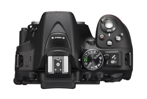Nikon D5300 SLR-Digitalkamera (24,2 Megapixel, 8,1 cm (3,2 Zoll) LCD-Display, Full HD, HDMI, WiFi, GPS, AF-System mit 39 Messfeldern) nur Gehäuse schwarz - 3