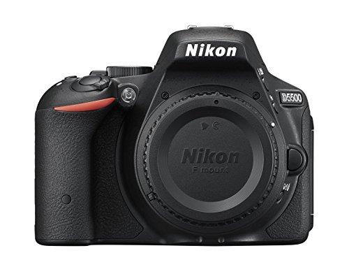 Nikon D5500 SLR-Digitalkamera (24,2 Megapixel, 8,1 cm (3,2 Zoll) Neig- und drehbares Touchscreen-Display, 39 AF-Messfelder, ISO 100-25.600, Full-HD-Video, Wi-Fi, HDMI) nur Gehäuse schwarz - 2