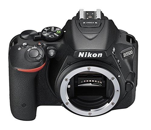 Nikon D5500 SLR-Digitalkamera (24,2 Megapixel, 8,1 cm (3,2 Zoll) Neig- und drehbares Touchscreen-Display, 39 AF-Messfelder, ISO 100-25.600, Full-HD-Video, Wi-Fi, HDMI) nur Gehäuse schwarz - 5