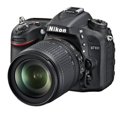 Nikon D7100 SLR-Digitalkamera (24 Megapixel, 8 cm (3,2 Zoll) TFT-Monitor, Full-HD-Video) Kit inkl. AF-S DX 18-105 mm 1:3,5-5,6G ED VR Objektiv schwarz - 1