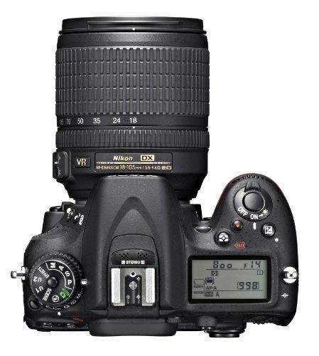 Nikon D7100 SLR-Digitalkamera (24 Megapixel, 8 cm (3,2 Zoll) TFT-Monitor, Full-HD-Video) Kit inkl. AF-S DX 18-105 mm 1:3,5-5,6G ED VR Objektiv schwarz - 5