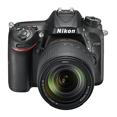 Nikon D7200 (24 Megapixel, 8 cm (3,2 Zoll) LCD-Display, Wi-Fi, NFC, Full-HD-Video) Kit inkl. AF-S DX Nikkor 18-140 mm 1:3,5-5,6G ED VR Objektiv - 3