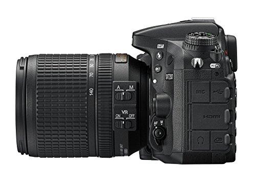Nikon D7200 (24 Megapixel, 8 cm (3,2 Zoll) LCD-Display, Wi-Fi, NFC, Full-HD-Video) Kit inkl. AF-S DX Nikkor 18-140 mm 1:3,5-5,6G ED VR Objektiv - 4