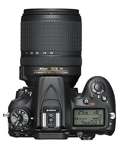 Nikon D7200 (24 Megapixel, 8 cm (3,2 Zoll) LCD-Display, Wi-Fi, NFC, Full-HD-Video) Kit inkl. AF-S DX Nikkor 18-140 mm 1:3,5-5,6G ED VR Objektiv - 6