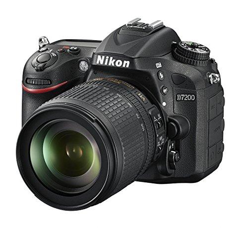 Nikon D7200 SLR-Digitalkamera (24 Megapixel, 8 cm (3,2 Zoll) LCD-Display, Wi-Fi, NFC, Full-HD-Video) Kit inkl. AF-S DX Nikkor 18-105 mm 1:3,5-5,6G ED VR Objektiv - 1
