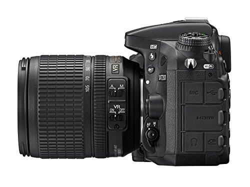 Nikon D7200 SLR-Digitalkamera (24 Megapixel, 8 cm (3,2 Zoll) LCD-Display, Wi-Fi, NFC, Full-HD-Video) Kit inkl. AF-S DX Nikkor 18-105 mm 1:3,5-5,6G ED VR Objektiv - 4