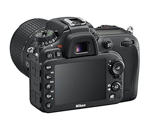 Nikon D7200 SLR-Digitalkamera (24 Megapixel, 8 cm (3,2 Zoll) LCD-Display, Wi-Fi, NFC, Full-HD-Video) Kit inkl. AF-S DX Nikkor 18-105 mm 1:3,5-5,6G ED VR Objektiv - 6