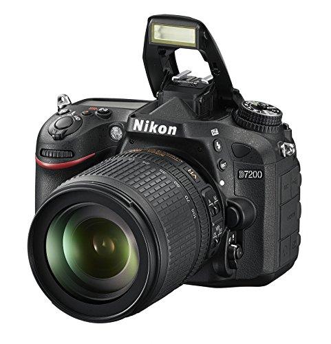 Nikon D7200 SLR-Digitalkamera (24 Megapixel, 8 cm (3,2 Zoll) LCD-Display, Wi-Fi, NFC, Full-HD-Video) Kit inkl. AF-S DX Nikkor 18-105 mm 1:3,5-5,6G ED VR Objektiv - 8