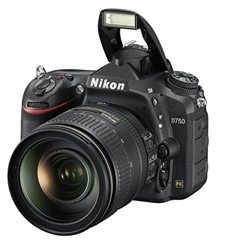 Nikon D750 SLR-Digitalkamera (24,3 Megapixel, 8,1 cm (3,2 Zoll) Display, HDMI, USB 2.0) Kit inkl. AF-S Nikkor 24-120 mm 1:4G ED VR Objektiv schwarz - 10
