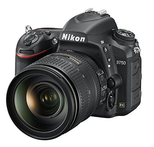 Nikon D750 SLR-Digitalkamera (24,3 Megapixel, 8,1 cm (3,2 Zoll) Display, HDMI, USB 2.0) Kit inkl. AF-S Nikkor 24-120 mm 1:4G ED VR Objektiv schwarz - 1