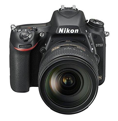 Nikon D750 SLR-Digitalkamera (24,3 Megapixel, 8,1 cm (3,2 Zoll) Display, HDMI, USB 2.0) Kit inkl. AF-S Nikkor 24-120 mm 1:4G ED VR Objektiv schwarz - 2