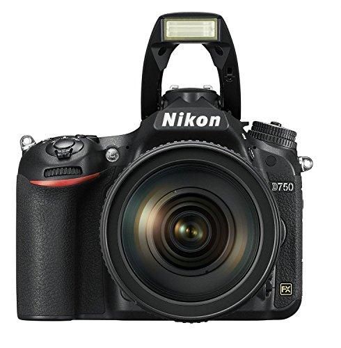 Nikon D750 SLR-Digitalkamera (24,3 Megapixel, 8,1 cm (3,2 Zoll) Display, HDMI, USB 2.0) Kit inkl. AF-S Nikkor 24-120 mm 1:4G ED VR Objektiv schwarz - 5