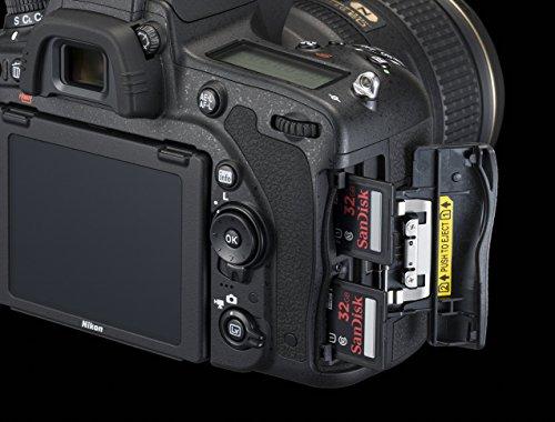 Nikon D750 SLR-Digitalkamera (24,3 Megapixel, 8,1 cm (3,2 Zoll) Display, HDMI, USB 2.0) Kit inkl. AF-S Nikkor 24-120 mm 1:4G ED VR Objektiv schwarz - 8