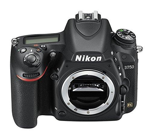 Nikon D750 SLR-Digitalkamera (24,3 Megapixel, 8,1 cm (3,2 Zoll) Display, HDMI, USB 2.0) nur Gehäuse schwarz - 1