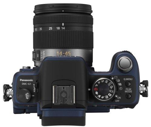 Panasonic Lumix DMC-G1K SLR-Digitalkamera (12 Megapixel, LiveView) blau inkl. Vario 14-45 mm F3,5-5,6 - 2