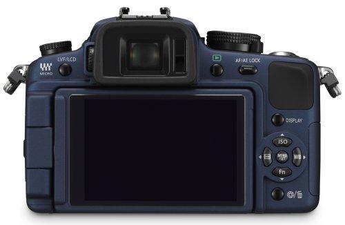 Panasonic Lumix DMC-G1K SLR-Digitalkamera (12 Megapixel, LiveView) blau inkl. Vario 14-45 mm F3,5-5,6 - 4