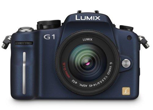 Panasonic Lumix DMC-G1K SLR-Digitalkamera (12 Megapixel, LiveView) blau inkl. Vario 14-45 mm F3,5-5,6 - 6