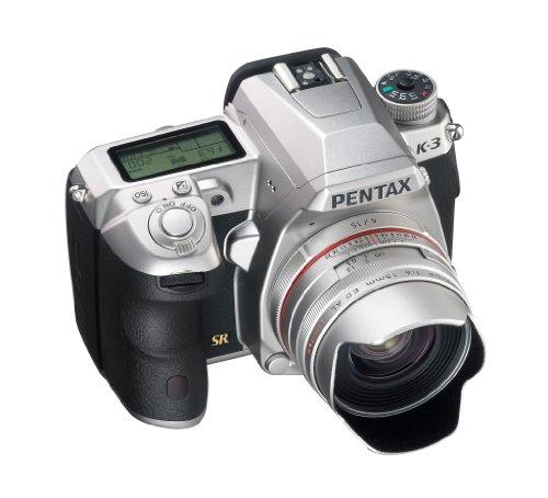 Pentax K-3 Premium Edition SLR-Digitalkamera (24 Megapixel, 8,1 cm (3,2 Zoll) LCD-Display, Live View, Full HD) inkl. Handgriff/Ersatzakku silber - 2