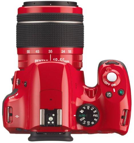Pentax K 50 SLR-Digitalkamera (16 Megapixel, APS-C CMOS Sensor, 1080p, Full HD, 7,6 cm (3 Zoll) Display, Bildstabilisator) rot inkl. Objektiven DA L 18-55 mm WR & DA L 50-200 mm WR - 5