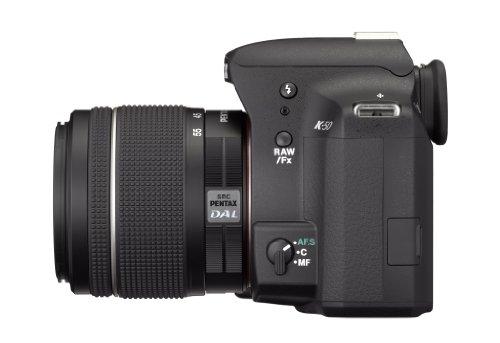 Pentax K 50 SLR-Digitalkamera (16 Megapixel, APS-C CMOS Sensor, 1080p, Full HD, 7,6 cm (3 Zoll) Display, Bildstabilisator) schwarz inkl. Objektiv DA L 18-55 mm WR - 2