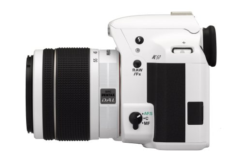 Pentax K 50 SLR-Digitalkamera (16 Megapixel, APS-C CMOS Sensor, 1080p, Full HD, 7,6 cm (3 Zoll) Display, Bildstabilisator) weiß inkl. Objektiv DA L 18-55 mm WR - 3