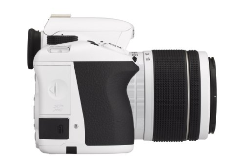 Pentax K 50 SLR-Digitalkamera (16 Megapixel, APS-C CMOS Sensor, 1080p, Full HD, 7,6 cm (3 Zoll) Display, Bildstabilisator) weiß inkl. Objektiv DA L 18-55 mm WR - 4
