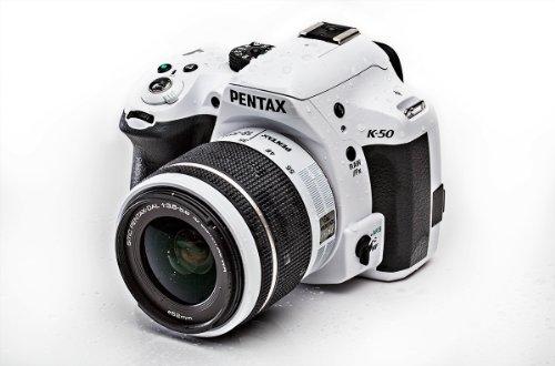 Pentax K 50 SLR-Digitalkamera (16 Megapixel, APS-C CMOS Sensor, 1080p, Full HD, 7,6 cm (3 Zoll) Display, Bildstabilisator) weiß inkl. Objektiv DA L 18-55 mm WR - 5