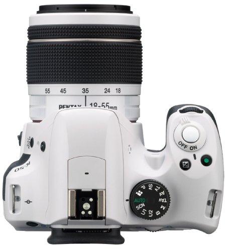 Pentax K 50 SLR-Digitalkamera (16 Megapixel, APS-C CMOS Sensor, 1080p, Full HD, 7,6 cm (3 Zoll) Display, Bildstabilisator) weiß inkl. Objektiven DA L 18-55 mm WR & 50-200 mm WR - 2