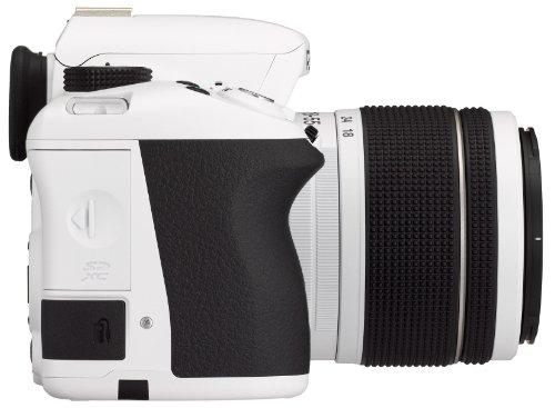 Pentax K 50 SLR-Digitalkamera (16 Megapixel, APS-C CMOS Sensor, 1080p, Full HD, 7,6 cm (3 Zoll) Display, Bildstabilisator) weiß inkl. Objektiven DA L 18-55 mm WR & 50-200 mm WR - 5