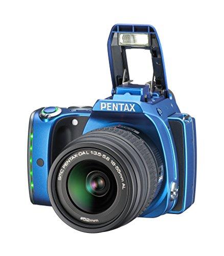 Pentax K-S1 SLR-Digitalkamera (20 Megapixel, 7,6 cm (3 Zoll) TFT Farb-LCD-Display, ultrakompaktes Gehäuse, Anti-Moiré-Funktion, Empfindlichkeit bis zu ISO 51200, Full-HD-Video, Wi-Fi, HDMI) Kit inkl. DAL 18-55 mm Objektiv blau - 2
