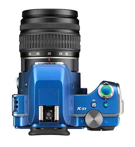 Pentax K-S1 SLR-Digitalkamera (20 Megapixel, 7,6 cm (3 Zoll) TFT Farb-LCD-Display, ultrakompaktes Gehäuse, Anti-Moiré-Funktion, Empfindlichkeit bis zu ISO 51200, Full-HD-Video, Wi-Fi, HDMI) Kit inkl. DAL 18-55 mm Objektiv blau - 4