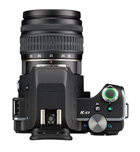 Pentax K-S1 SLR-Digitalkamera (20 Megapixel, 7,6 cm (3 Zoll) TFT Farb-LCD-Display, ultrakompaktes Gehäuse, Anti-Moiré-Funktion, Empfindlichkeit bis zu ISO 51200, Full-HD-Video, Wi-Fi, HDMI) Kit inkl. DAL 18-55 mm Objektiv schwarz - 3