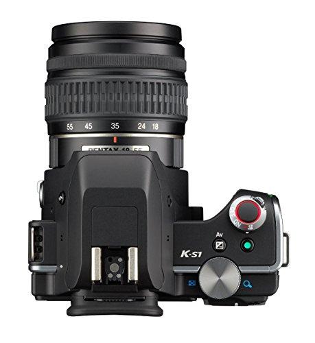 Pentax K-S1 SLR-Digitalkamera (20 Megapixel, 7,6 cm (3 Zoll) TFT Farb-LCD-Display, ultrakompaktes Gehäuse, Anti-Moiré-Funktion, Empfindlichkeit bis zu ISO 51200, Full-HD-Video, Wi-Fi, HDMI) Kit inkl. DAL 18-55 mm Objektiv schwarz - 6
