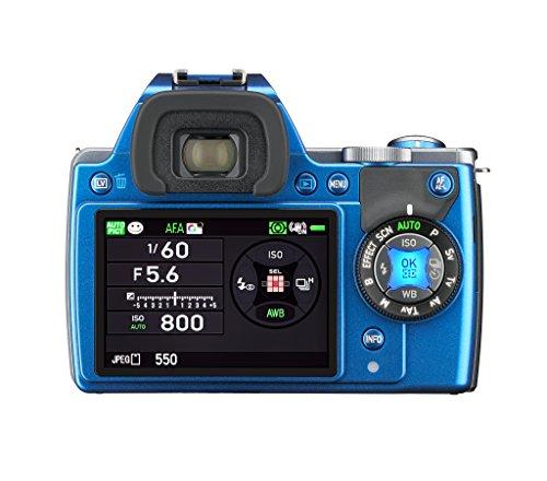 Pentax K-S1 SLR-Digitalkamera (20 Megapixel, 7,6 cm (3 Zoll) TFT Farb-LCD-Display, ultrakompaktes Gehäuse, Anti-Moiré-Funktion, Empfindlichkeit bis zu ISO 51200, Full-HD-Video, Wi-Fi, HDMI) nur Gehäuse blau - 1