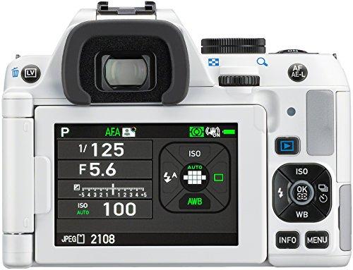 Pentax K-S2 Spiegelreflexkamera (20 Megapixel, 7,6 cm (3 Zoll) LCD-Display, Full-HD-Video, Wi-Fi, GPS, NFC, HDMI, USB 2.0) Kit inkl. 18-135mm WR-Objektiv weiß - 4