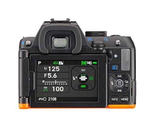 Pentax K-S2 Spiegelreflexkamera (20 Megapixel, 7,6 cm (3 Zoll) LCD-Display, Full-HD-Video, Wi-Fi, GPS, NFC, HDMI, USB 2.0) Kit inkl. 18-50mm WR-Objektiv schwarz/orange - 9