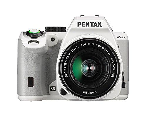 Pentax K-S2 Spiegelreflexkamera (20 Megapixel, 7,6 cm (3 Zoll) LCD-Display, Full-HD-Video, Wi-Fi, GPS, NFC, HDMI, USB 2.0) Kit inkl. 18-50mm WR-Objektiv weiß - 1