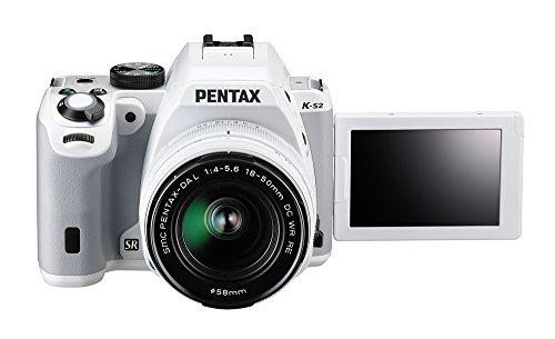 Pentax K-S2 Spiegelreflexkamera (20 Megapixel, 7,6 cm (3 Zoll) LCD-Display, Full-HD-Video, Wi-Fi, GPS, NFC, HDMI, USB 2.0) Kit inkl. 18-50mm WR-Objektiv weiß - 3