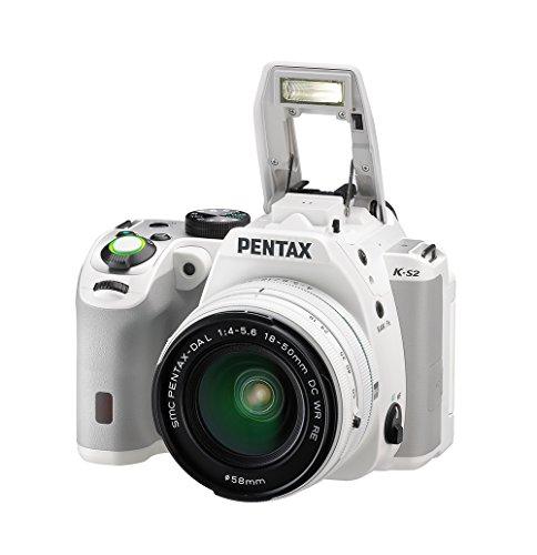Pentax K-S2 Spiegelreflexkamera (20 Megapixel, 7,6 cm (3 Zoll) LCD-Display, Full-HD-Video, Wi-Fi, GPS, NFC, HDMI, USB 2.0) Kit inkl. 18-50mm WR-Objektiv weiß - 4
