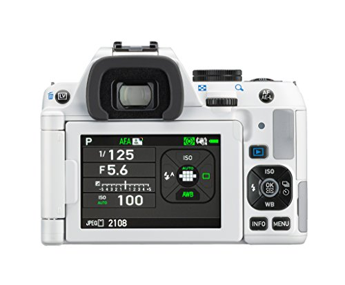 Pentax K-S2 Spiegelreflexkamera (20 Megapixel, 7,6 cm (3 Zoll) LCD-Display, Full-HD-Video, Wi-Fi, GPS, NFC, HDMI, USB 2.0) Kit inkl. 18-50mm WR-Objektiv weiß - 8