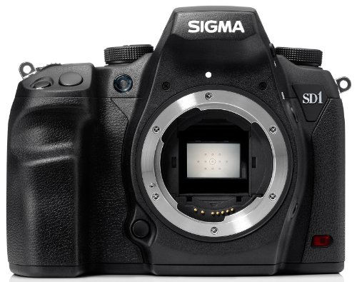 Sigma SD1 Merrill SLR-Digitalkamera (46 Megapixel, 7,6 cm (3 Zoll) Display, CF-Speicherkartenslot) Kit inkl. 18-200/3,5-6,3 II DC OS HSM Objektiv für Sigma Objektivbajonett schwarz - 2