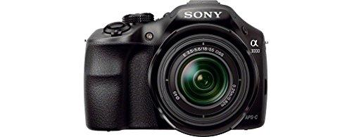Sony ILCE3000KB a3000 E-Mount Systemkamera im SLR Gehäuse (20 Megapixel, Exmor APS-C CMOS Sensor, 7,6 cm (3 Zoll) LCD-Display, Live View, Full HD Video) inkl. E 18-55mm OSS Objektiv schwarz - 1