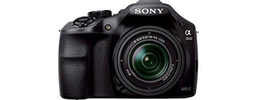 Sony ILCE3000KB a3000 E-Mount Systemkamera im SLR Gehäuse (20 Megapixel, Exmor APS-C CMOS Sensor, 7,6 cm (3 Zoll) LCD-Display, Live View, Full HD Video) inkl. E 18-55mm OSS Objektiv schwarz - 3