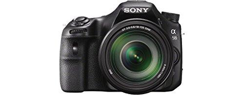 Sony SLT-A58K SLR-Digitalkamera (20,1 Megapixel, 6,7 cm (2,7 Zoll) LCD-Display, APS HD CMOS-Sensor, HDMI, USB 2.0)  inkl. SAL 18-55mm Objektiv schwarz - 1